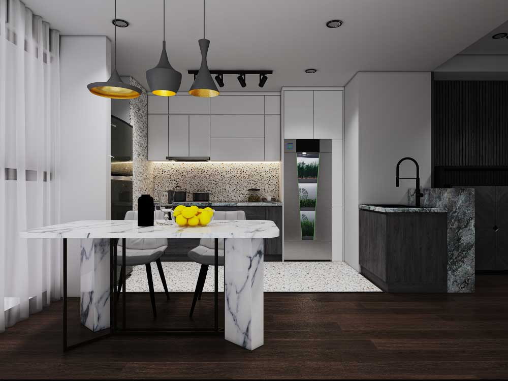 TekGrow Smart In-Home Garden in kitchen