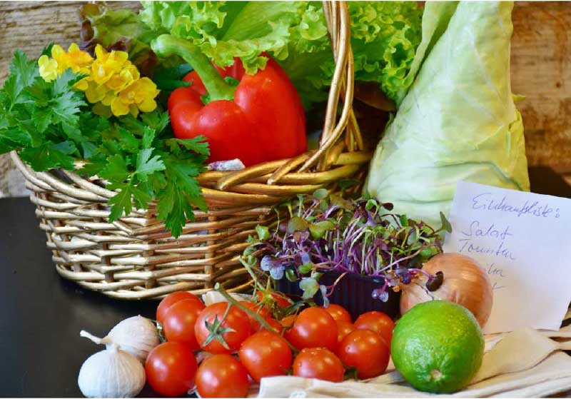 Fresh vegetables for healthy meals